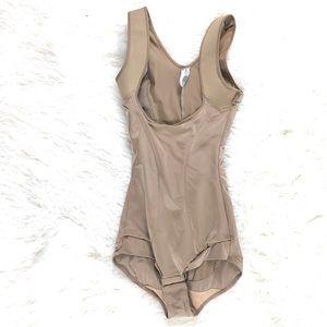 Maidenform Flexees Nude Bodysuit Sz Small